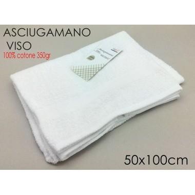 ASCIUGAMANO VISO 50X100 BASIC BIANCO