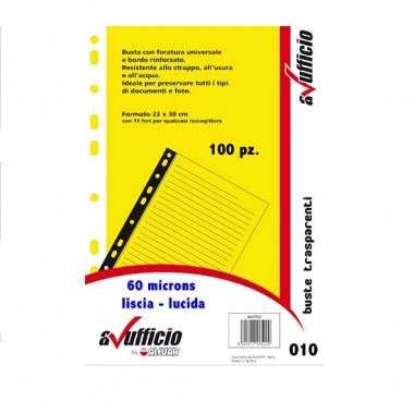 BUSTE A FORATURA UNIVERSALE CF.100 LISCI